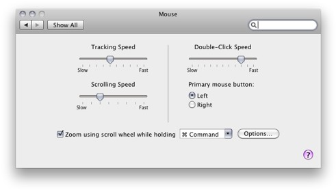 how to customize tracking speed of mouse, change mouse speed for Mac