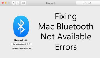 Fixing Mac Bluetooth Not Available Errors