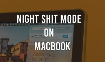 night shift mode on mac