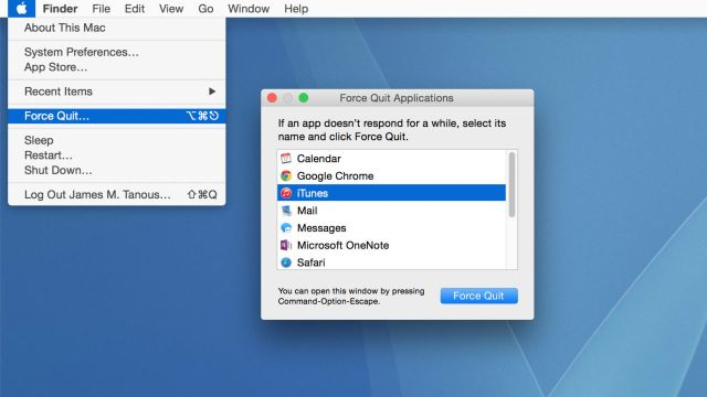 force stop an application on mac